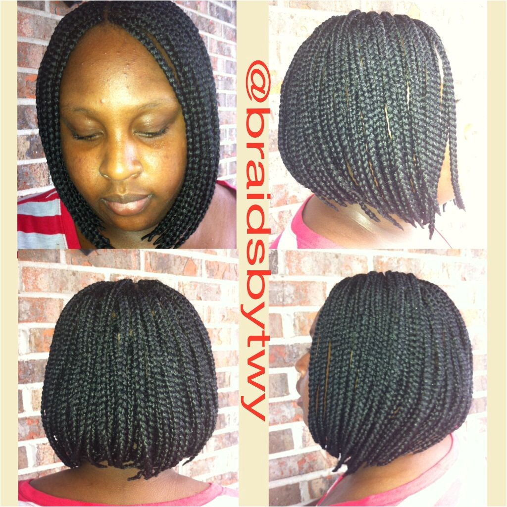 Old School braided bob or bob braids