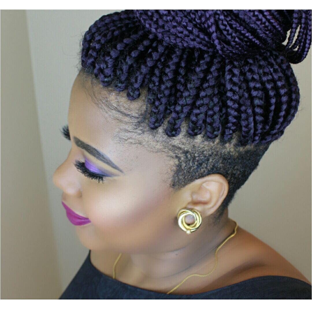 Braids with shaved sides
