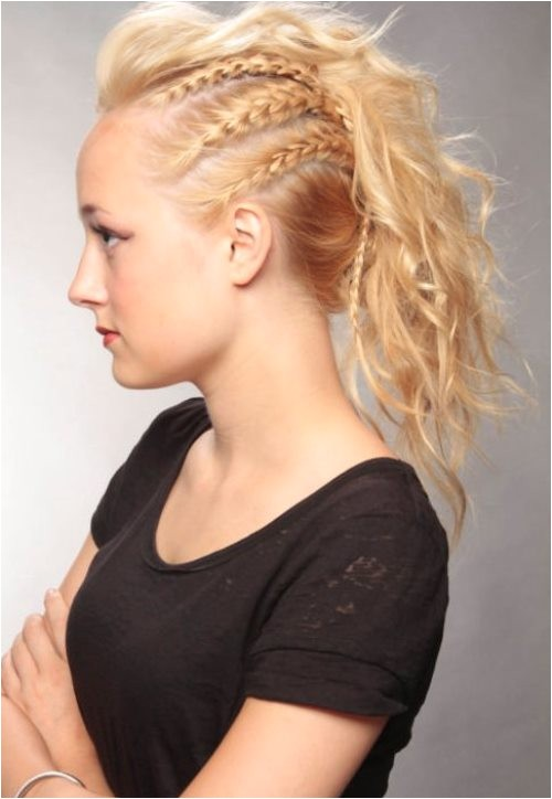 braided mohawk hairstyles side