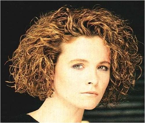 short permed hair for older women photos