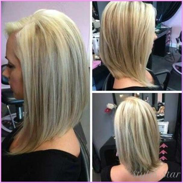 medium bob hairstyles front back