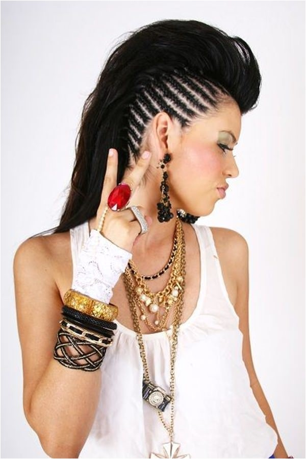 mohawk braids hairstyles