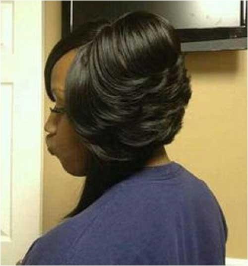 layered bob for black hair