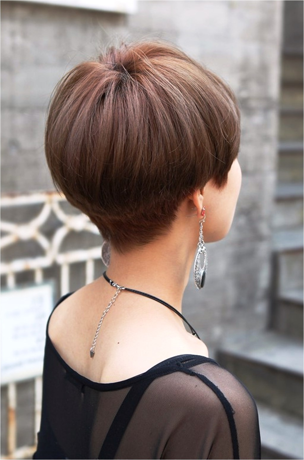 short hairstyles front and back pictures