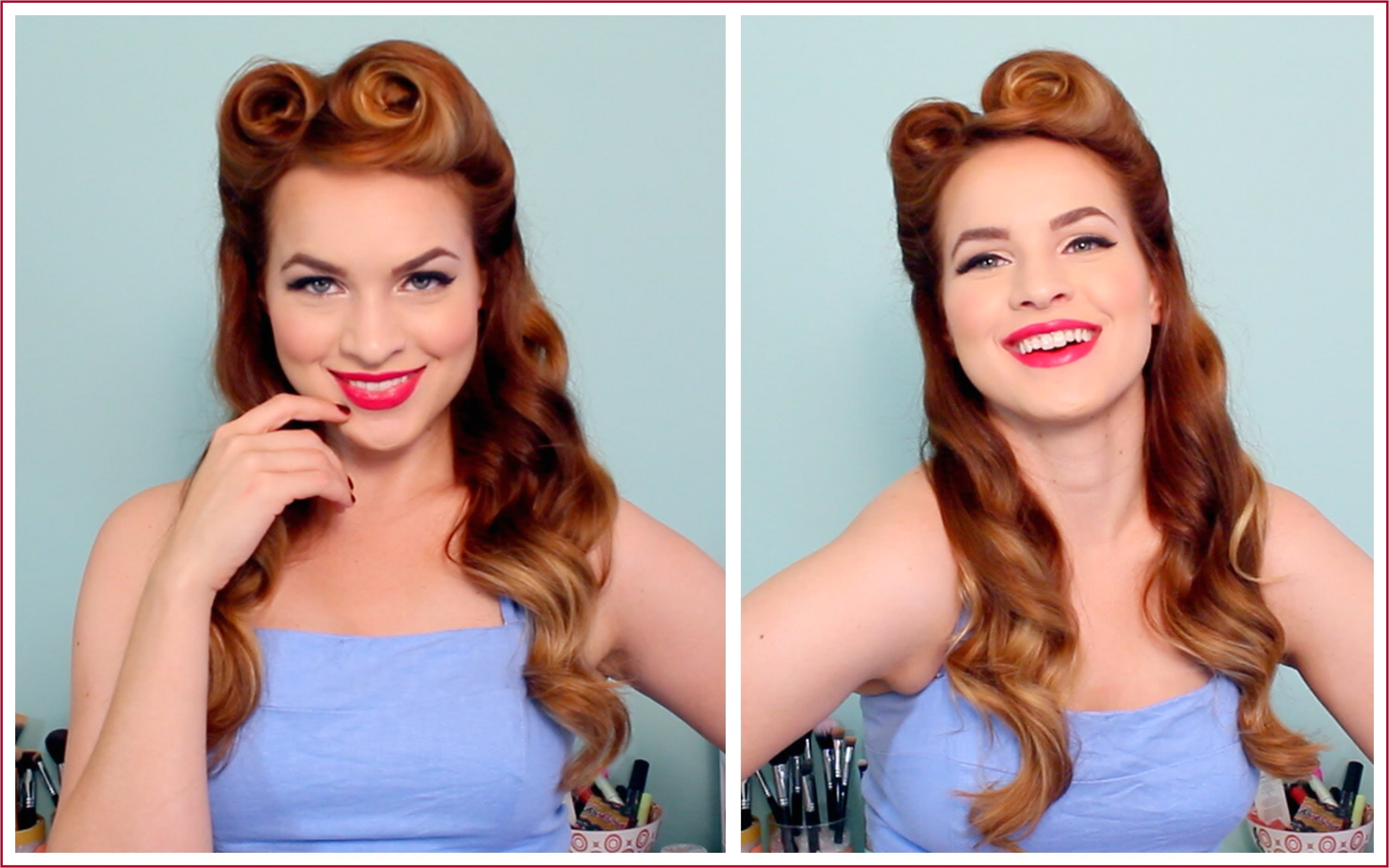 How to Do 1950s Hairstyles for Long Hair 1940 S 50 S Pinup Hair and Makeup