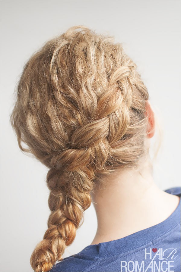 Plait Hairstyles for Curly Hair Curly Side Braid Hairstyle Tutorial Hair Romance
