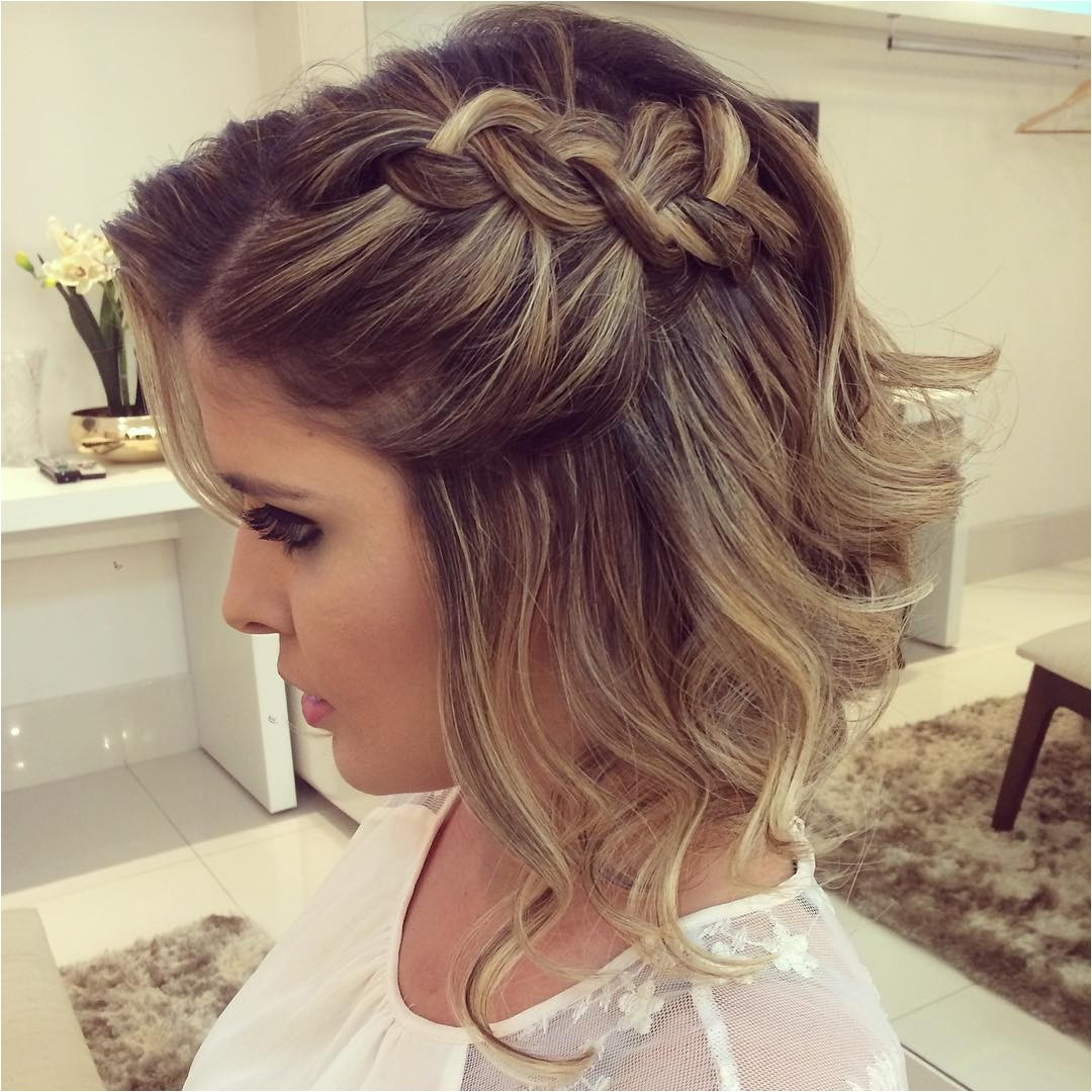 prom hairstyle short hair