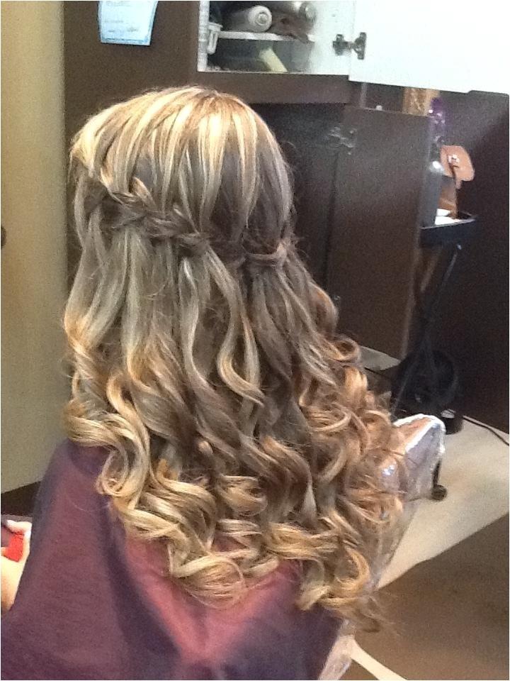 long hair formal hairstyles down
