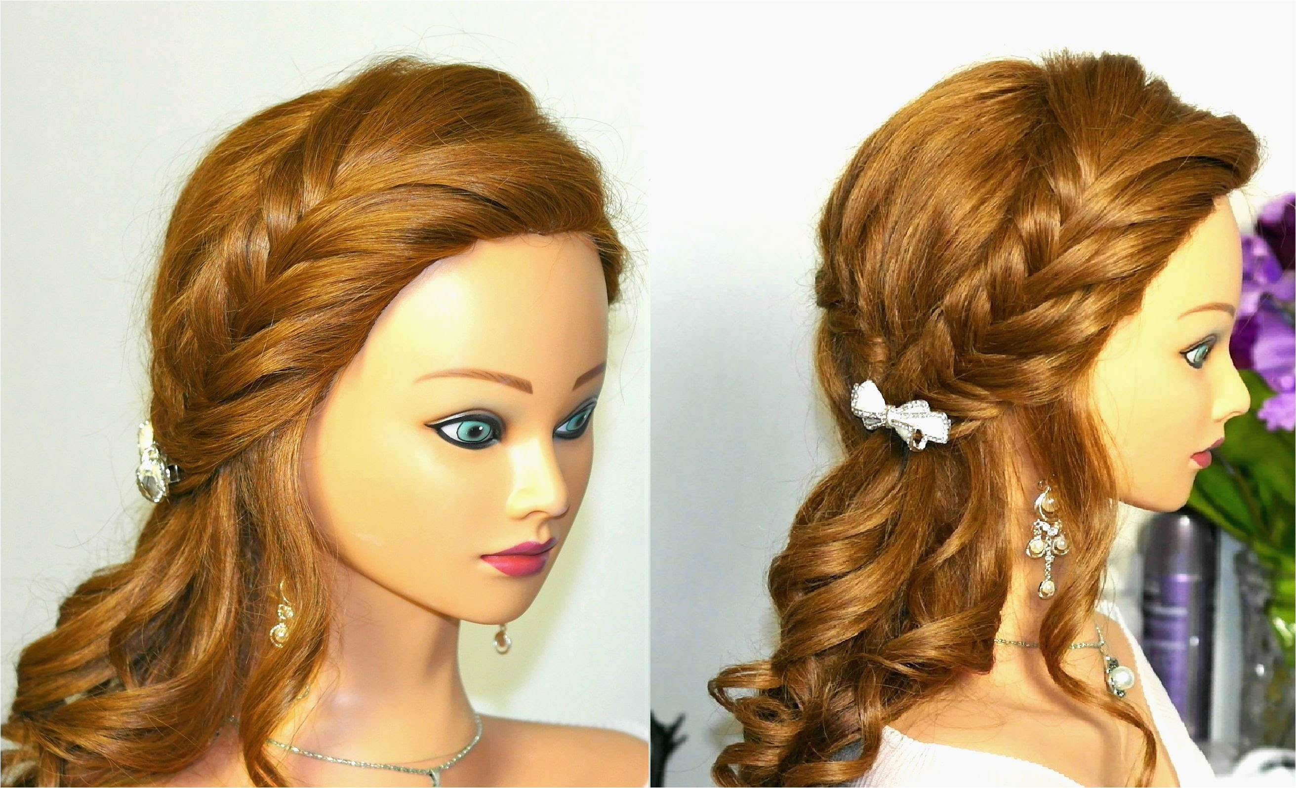 Hairstyles with Braids and Curls Elegant French Braid Prom Hairstyles