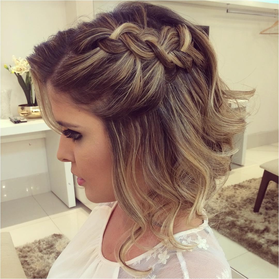 prom hairstyle short hair