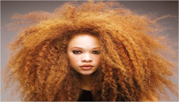 puffy curly hair