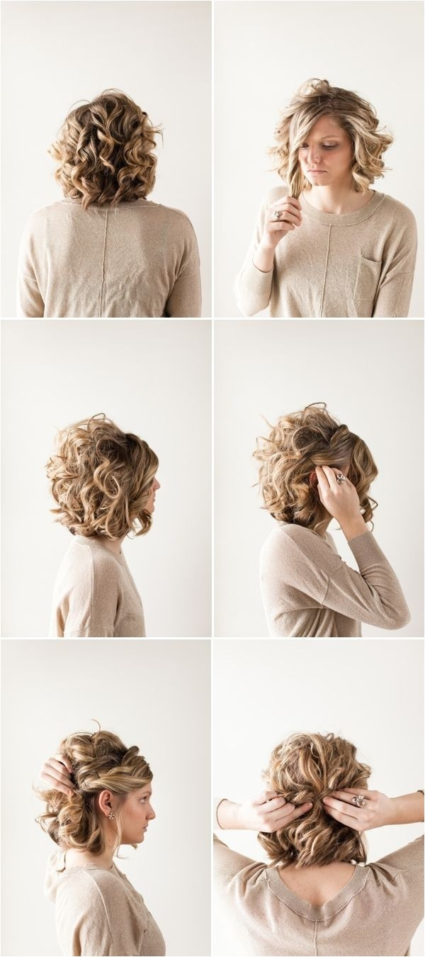 Ways to Style Short Curly Hair New 25 Simple and Stunning Updo Hairstyles for Curly Hair