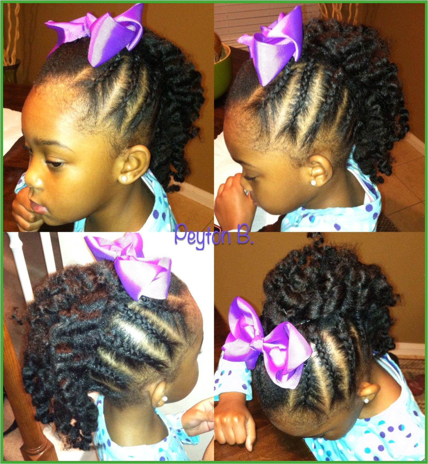 Braid Hairstyles Kids Braided Mohawk with Braidout In the Middle Natural Hairstyles for