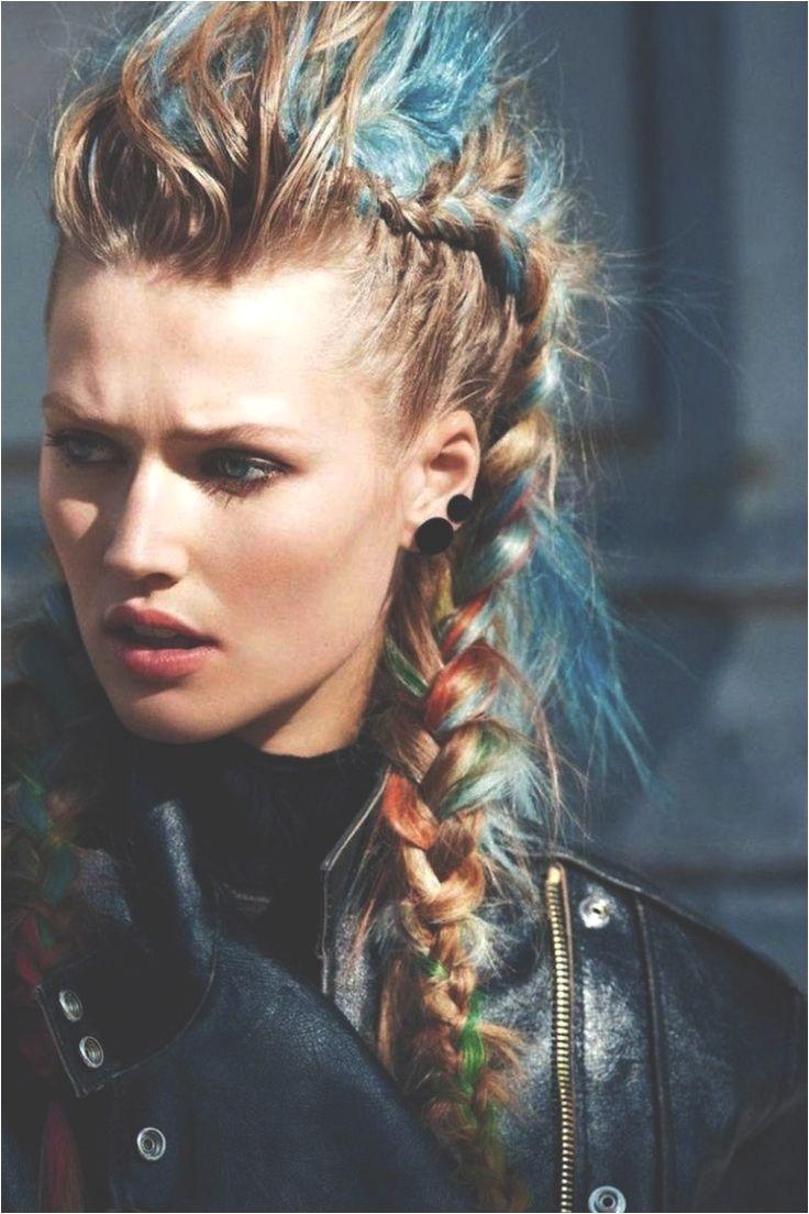 colorful braided punk rocker style
