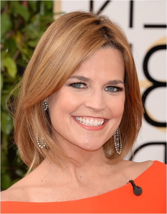 celebrity blonde bob hairstyle from savannah guthrie