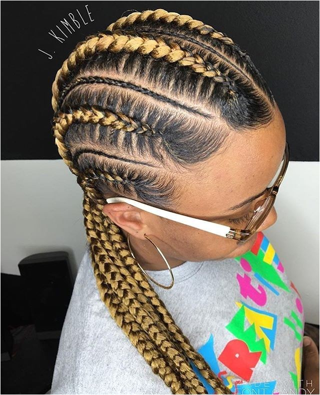 scalp braids with weave