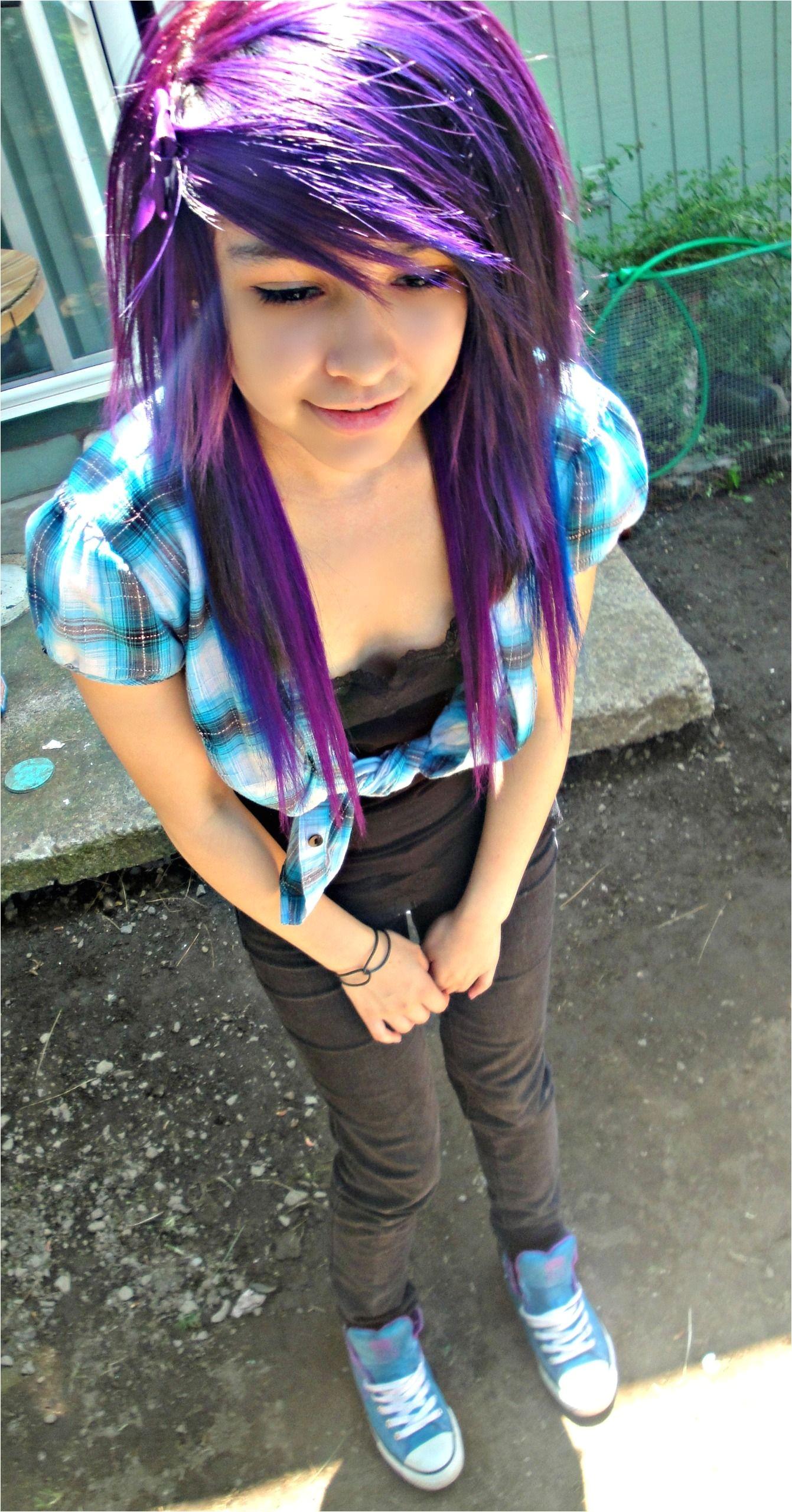 Emo Purple Scene Hair