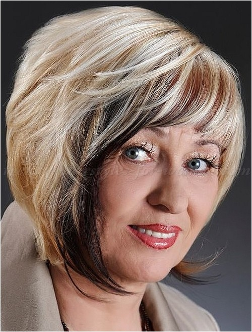 short angled bob cuts for women over 60