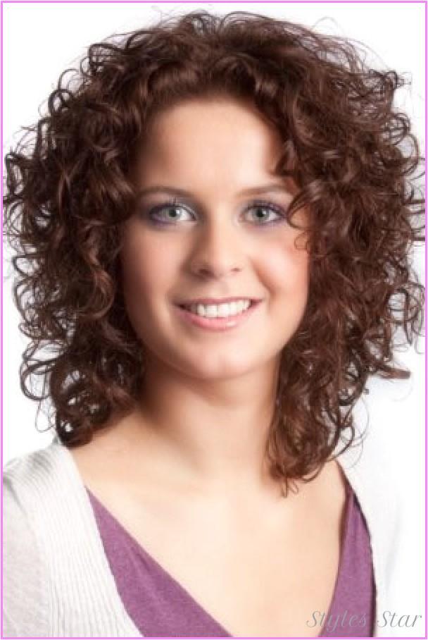 short natural curly haircuts round faces