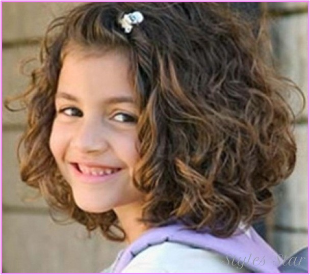 short haircuts little girls curly hair