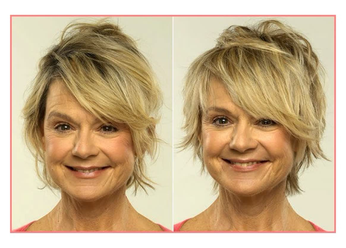 images of short hairstyles for fine thin hair and square face