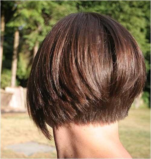 back view of inverted bob haircut