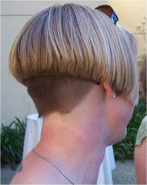 short inverted bob haircut back view