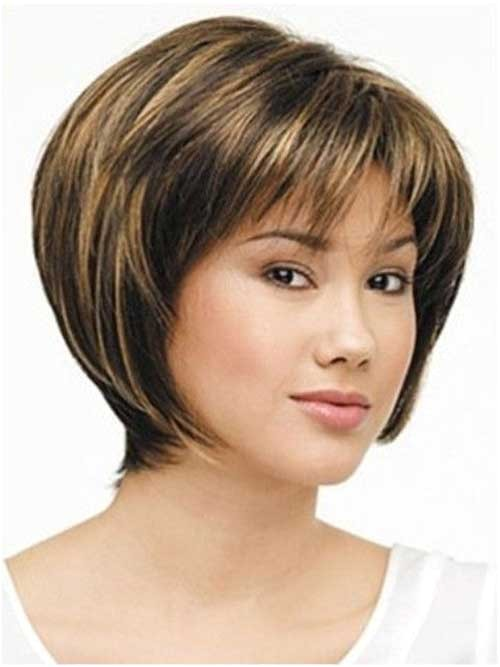 short straight hairstyles with bangs
