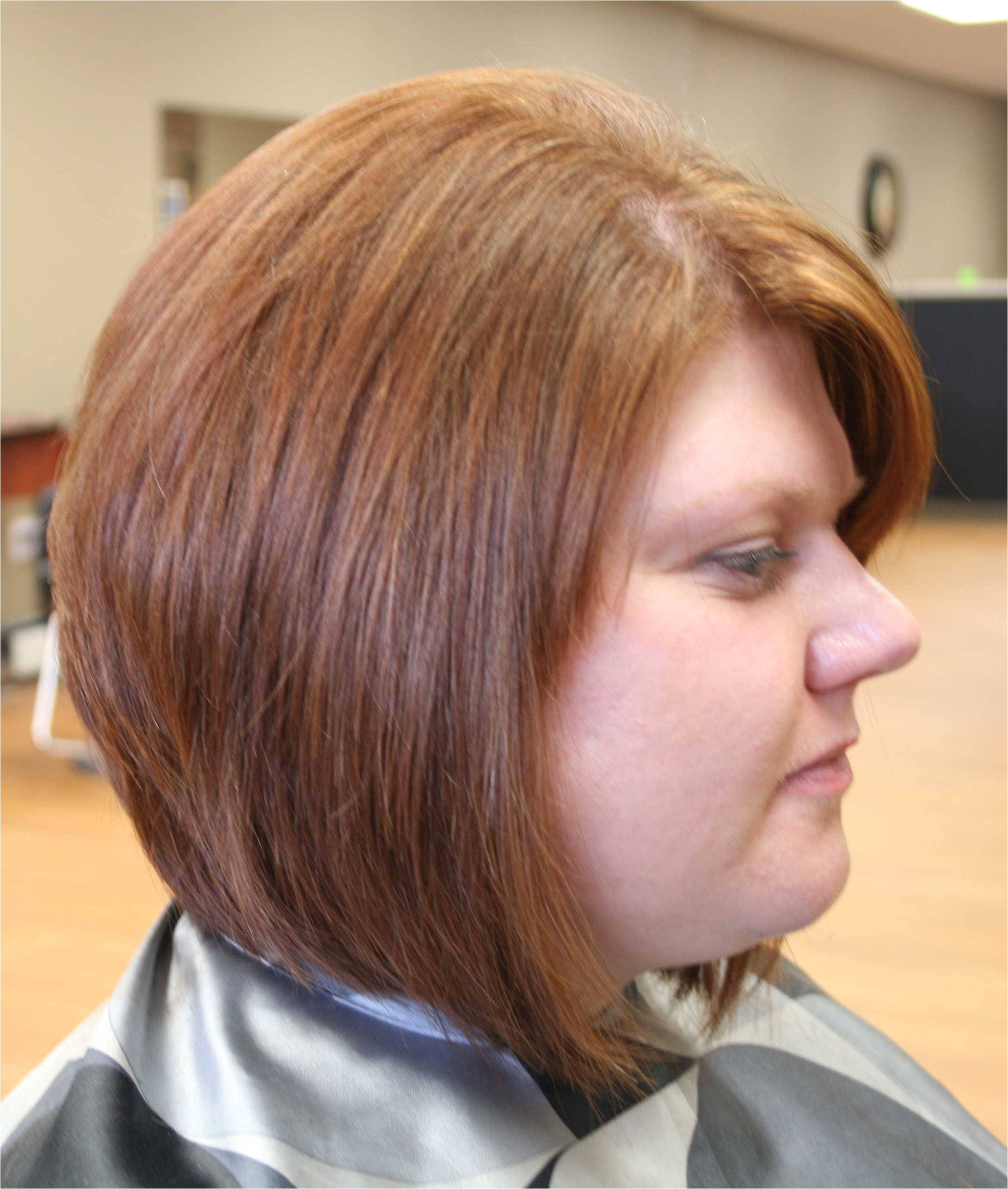 stacked bob haircuts for round faces