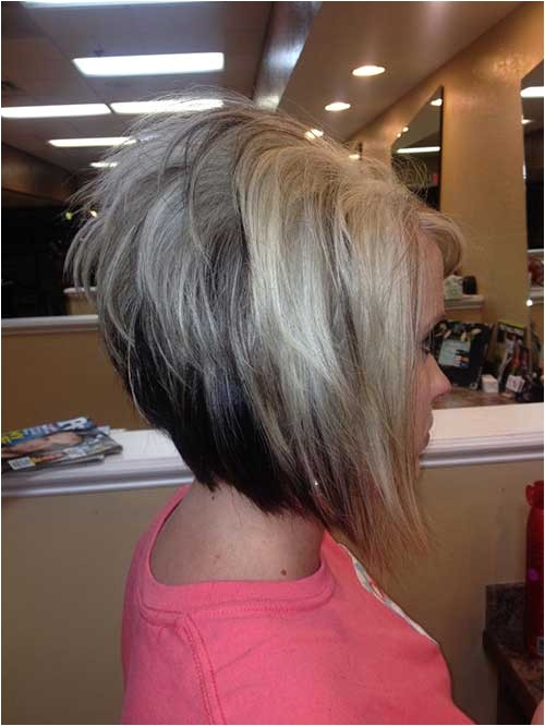 stacked inverted bob with bangs