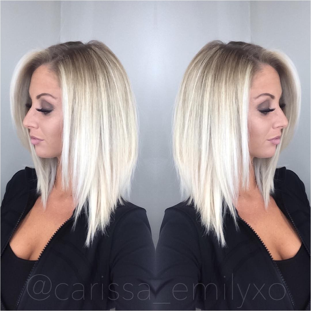 stylish and sweet lob haircut