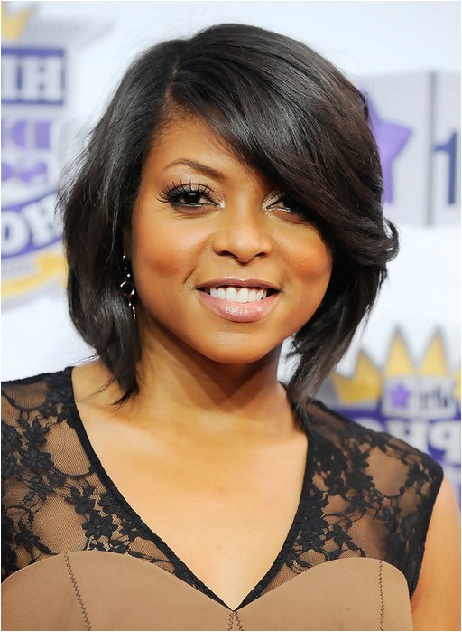 taraji p henson short angled bob haircut for black women