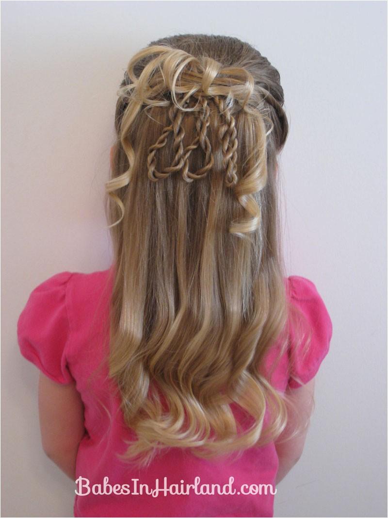 fancier 3 rope braid loop hairstyle