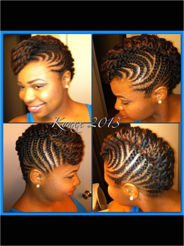 Transitioning Braid Hairstyles Updo Protective Transitioning Mohawk