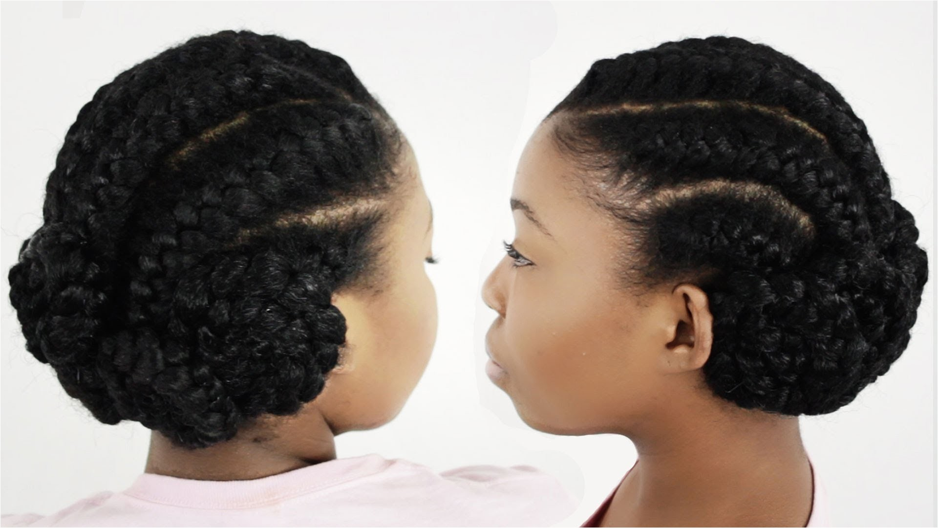 under braid hairstyles with weave