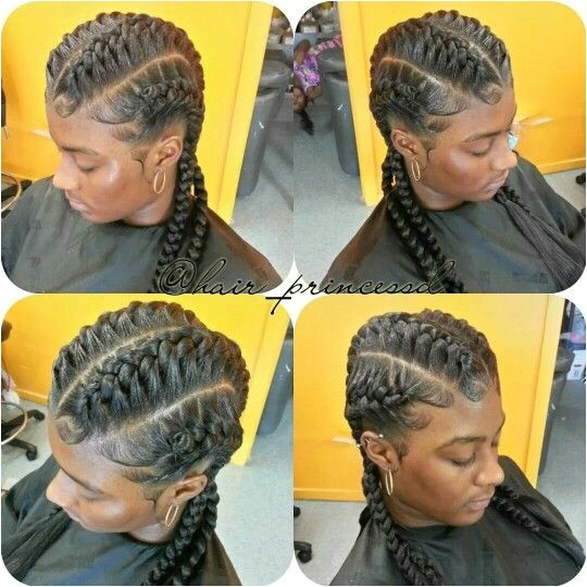 under braid hair styles