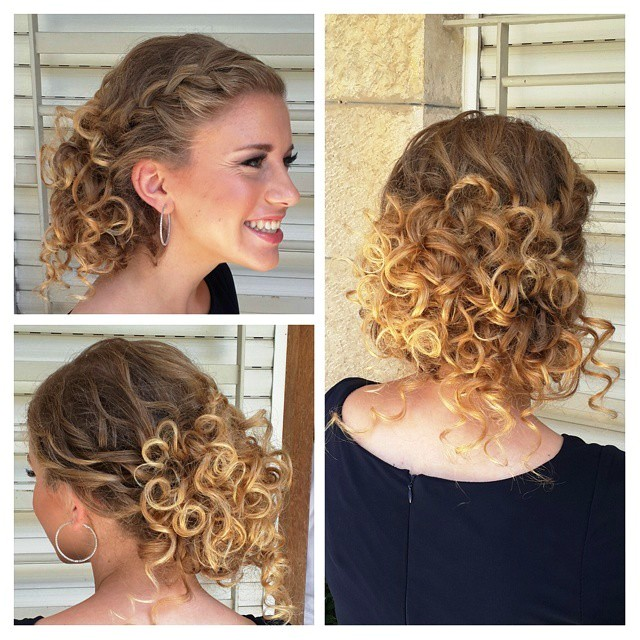 prom hairstyles for curly hair half up half down