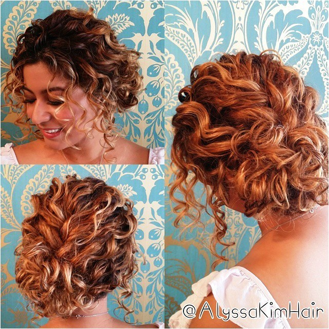 Up Hairstyles for Short Curly Hair Updo Hairstyles for Short Curly Hair Hollywood Ficial