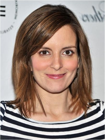 tina fey shoulder length bob hairstyles