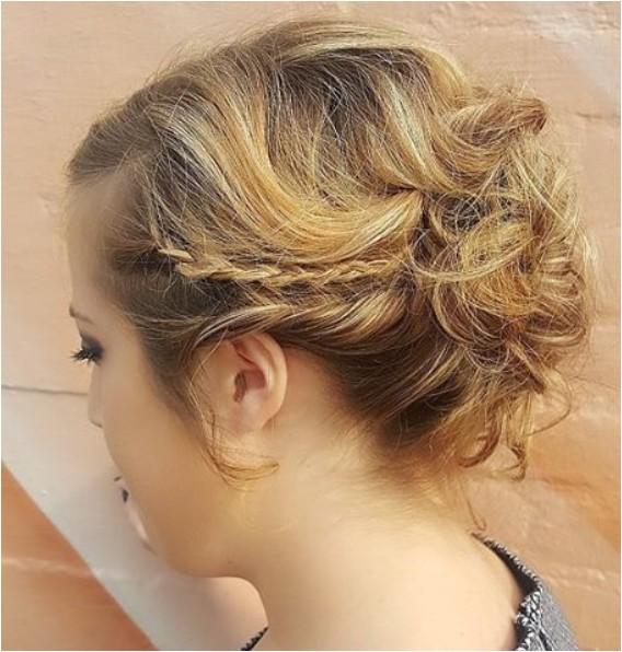super trendy updo ideas for medium length hair