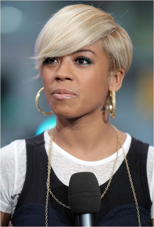african american short haircut with bangs edgy urban slick hair from keyshia