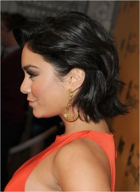 Vanessa Hudgens Bob Haircut Vanessa Hudgens Short Curled Out Bob Hairstyle