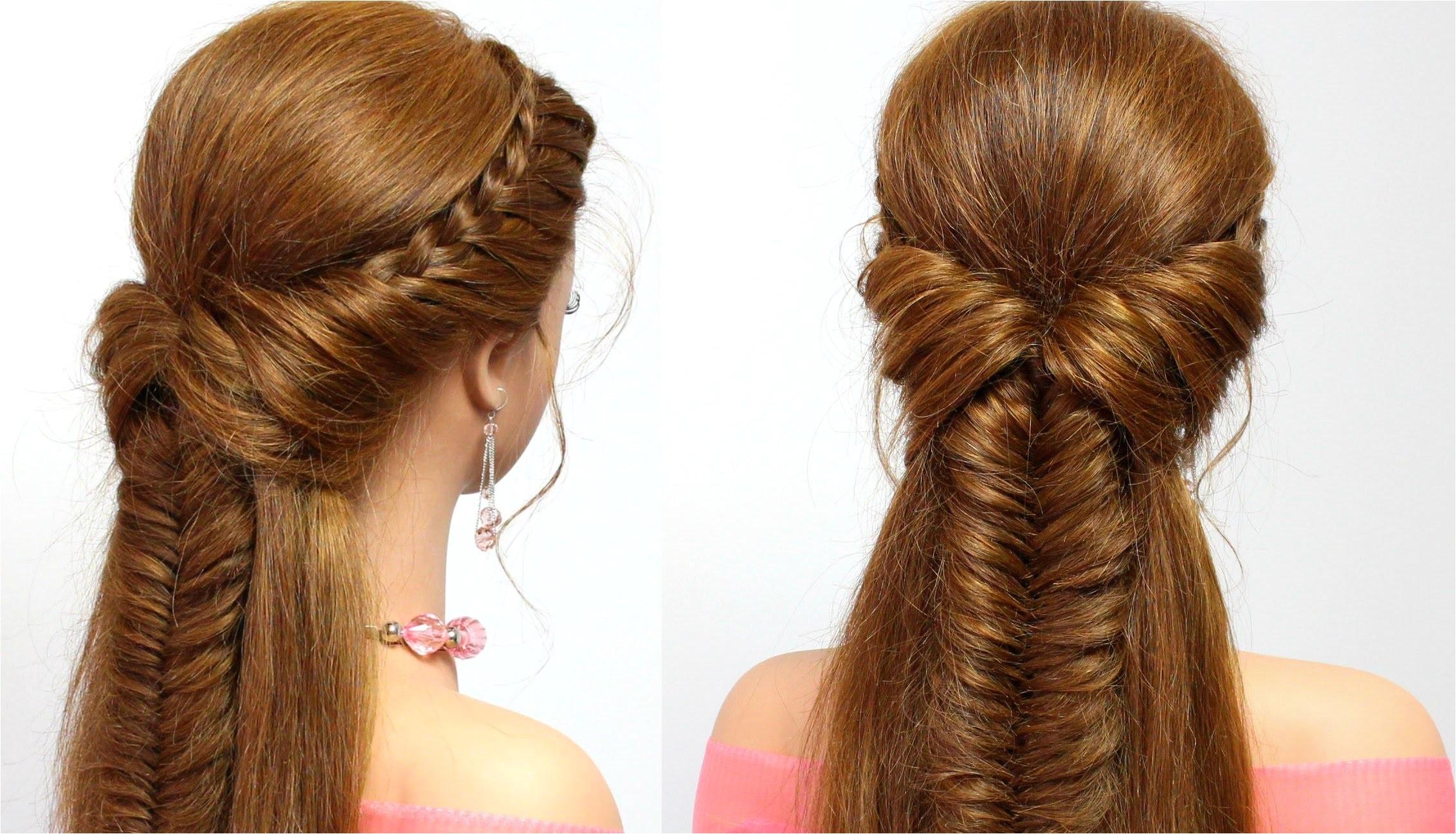 braided hairstyle for everyday medium long hair tutorial
