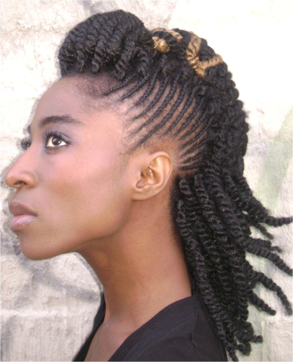braided weave hairstyles for black hair 2