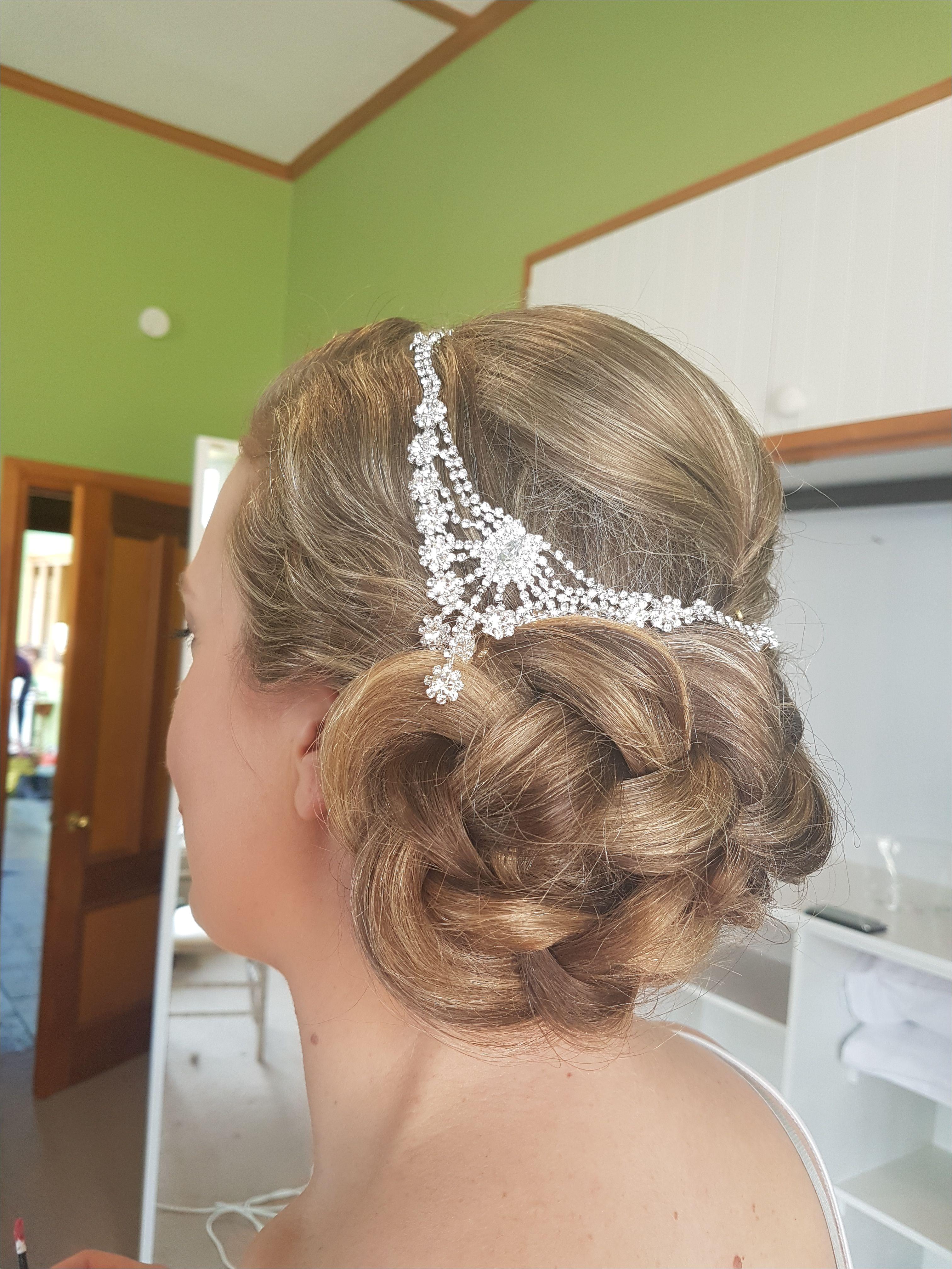 bridal hair style braid braided chignon bride hair by Sara of Absolutely Fabulous Hair