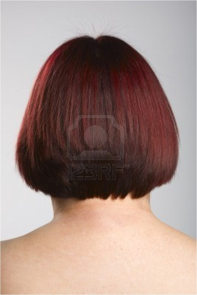 bob wedge haircut rear view