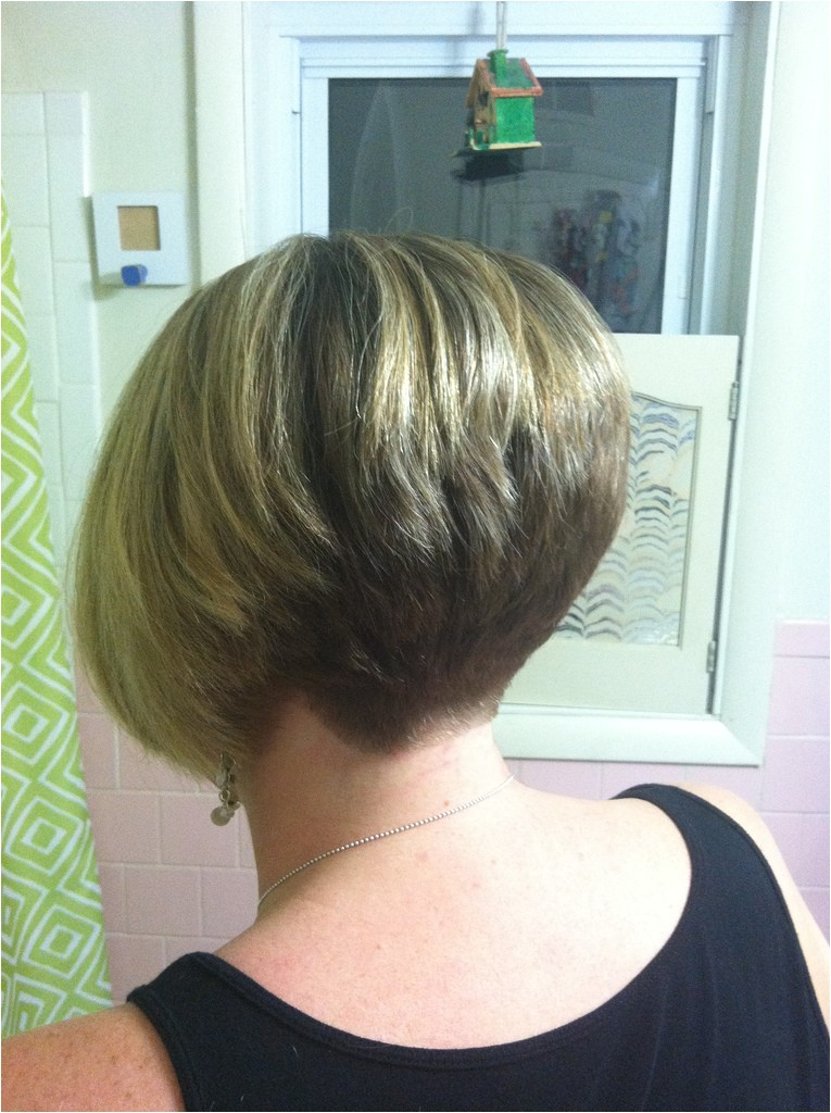 stacked wedge haircut photos back view