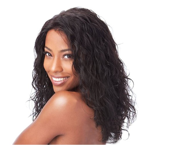 wet and wavy hair styles for black women