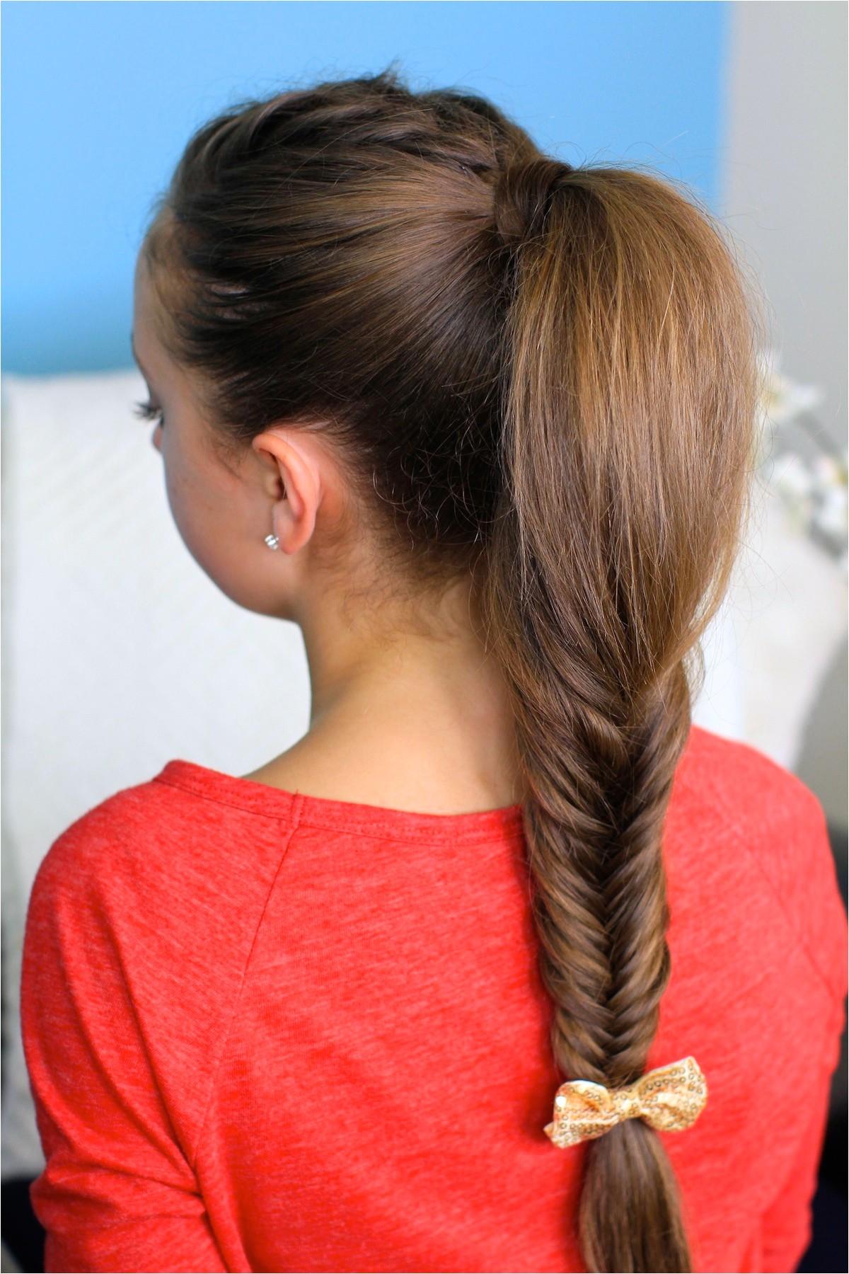 fluffy fishtail braid