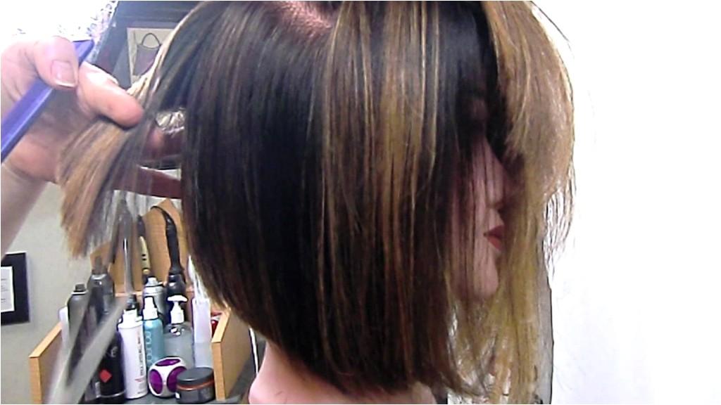 angled bob hairstyles angled bob graduated and texturized youtube